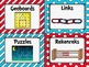 Classroom Supply Labels in a Dr S Inspired Decor Theme