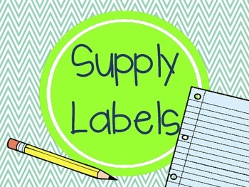 Classroom Supply Labels- lime green