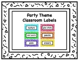Classroom Supply Labels with Daily 5, Math, and Writing supplies