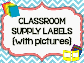 Classroom Supply Labels {with PICTURES!}