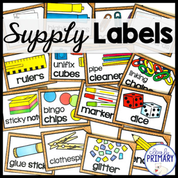 Classroom Supply Labels with Pictures