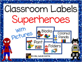 Classroom Supply Labels  with Pictures ~ Superhero -