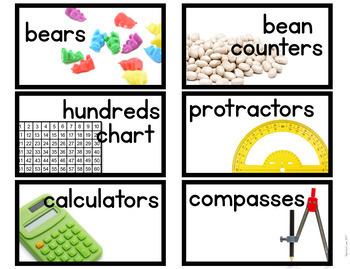 Classroom Supply Labels with Real Photos