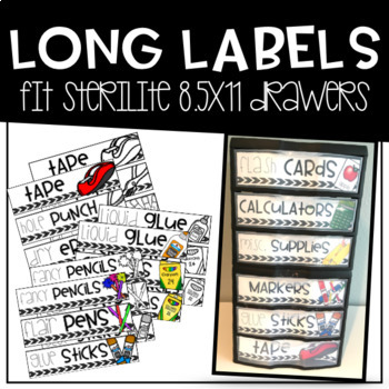 Classroom Supply & Organization Labels BUNDLE (Color, BW, and EDITABLE!)