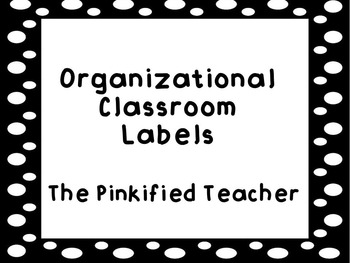 Classroom Supply Organizational Labels