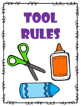 Classroom Supply Rule Posters