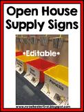 Classroom Supply Signs: EDITABLE!