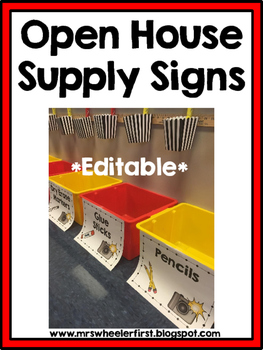 Classroom Supply Signs: EDITABLE!