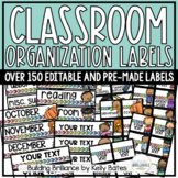 Simple Classroom Supply & Organization Labels