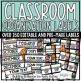 Simple Classroom Organization Labels