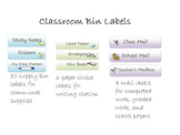 Classroom Supply and Paper Printable Labels for bins or containers