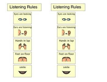 Classroom Supports: Desktop listening rules