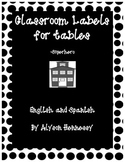 Classroom Table Labels (Superhero Theme)