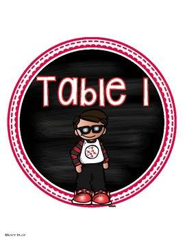 Classroom Table Numbers Signs Kids