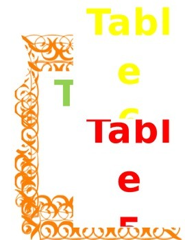 Classroom Table Numbers