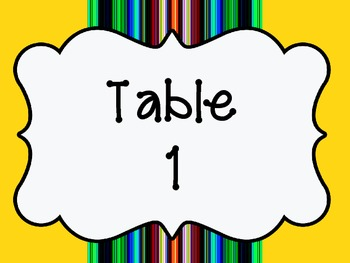 Classroom Table Signs - FREEBIE!