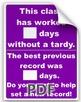 Classroom Tardy Poster