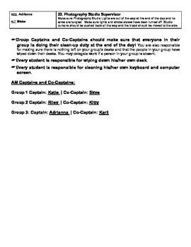 Classroom Tasks List & Check Off Sheet (Classroom Management & Organization)