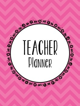 Classroom Teacher Binder - Pink Chevron Theme