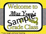 Classroom Teacher Door Signs