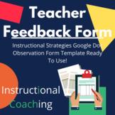 Classroom Teacher Instructional Strategies Observation Form