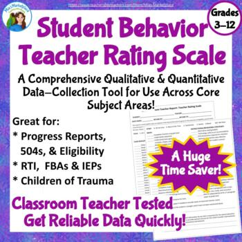 Classroom Teacher Report: Teacher Rating Scale
