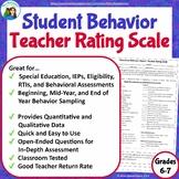 Classroom Teacher Report: Teacher Rating Scale