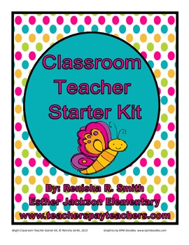 Classroom Teacher Starter Kit: Bright Stripe & Polka Dot Edition