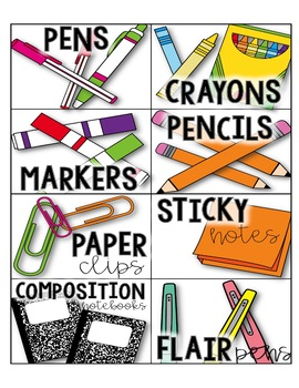 Classroom/Teacher Supply Labels