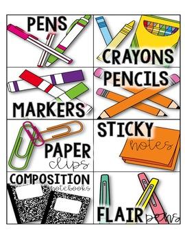 Classroom/Teacher Supply Labels