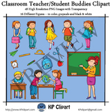 Classroom Teacher and Student Buddies Clipart