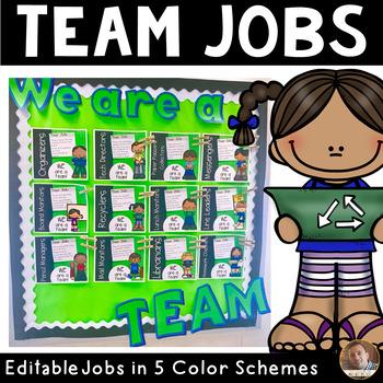Classroom Jobs (Team Jobs) in MULTIPLE Colors: Editable