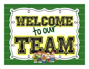 Classroom Team Theme signs