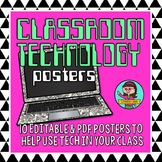 Classroom Technology Laptop Computer Rules Poster Set