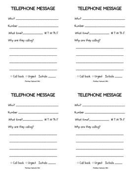 Classroom Telephone Etiquette