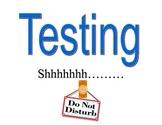 Classroom Testing Sign