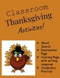 Classroom Thanksgiving Activities
