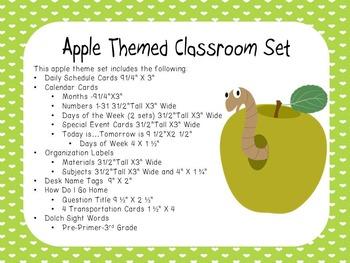 Apple Theme Classroom Display
