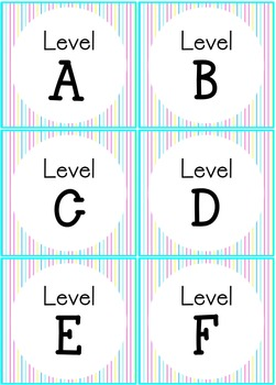 Classroom Theme Blue Pink Aqua Yellow : Library Labels