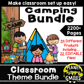 Classroom Decor Theme Bundle ~ Camping Theme