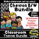 Classroom Decor Theme Bundle ~ Chevron Black and White Print
