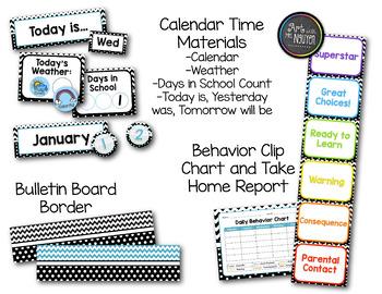 Classroom Theme Bundle: Chevron and Dots (Classroom Decor)