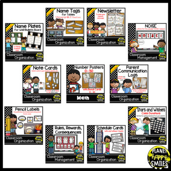 Black and White Polka Dot Classroom Theme Bundle
