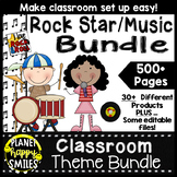 Rock Star or Music Classroom Theme Bundle