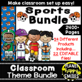 Classroom Decor Theme Bundle ~ Sports Theme