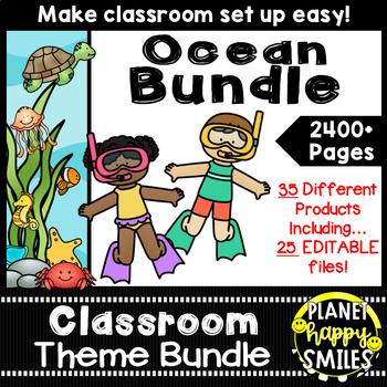 "Classroom Decor Theme Bundle ~ ""Under the Sea"" Ocean Theme"
