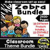 Classroom Decor Theme Bundle ~ Zebra Print