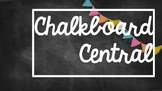 Classroom Theme Chalkboard with Colored Flags Kit