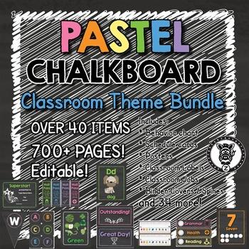 pastel chalkboard theme