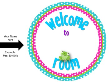Classroom Decor Theme {Frogs & Polka Dots}